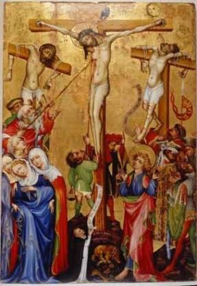 christ en croix qui souffre